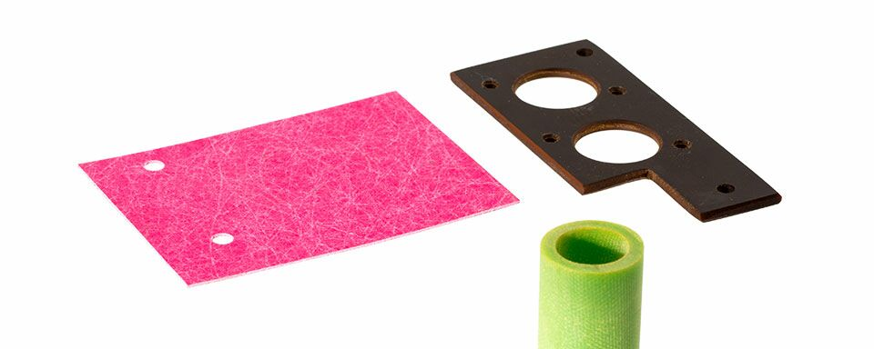 Insulating and plastic material parts